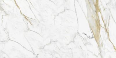 Керамогранит напольный R50C Bistrot Calacatta Michelangelo Soft Rett 75x150 Ragno