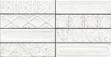 Декор R12C Eden Tin Bianco 7x28 Ragno