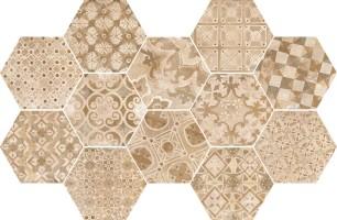 Декор R55U Epoca Decoro Cementine Rosa 21x18,2 Ragno