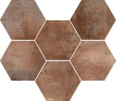 Керамогранит настенный R55R Epoca Cotto Scuro 21x18,2 Ragno