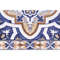 Настенная плитка 10101004471 Андалусия синий низ 03 20х30 Шахтинская плитка
