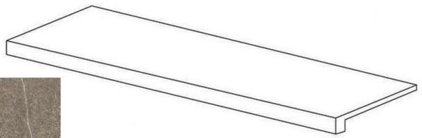 Фронтальная ступень Napoli Коричневый R10 7РЕК 30x60 Vitra