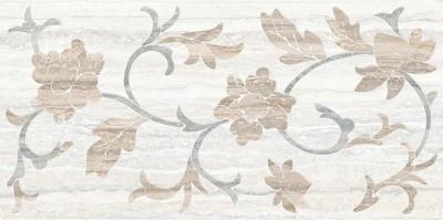 Керамогранит настенный K945357 Travertini белый декор 30x60 Vitra