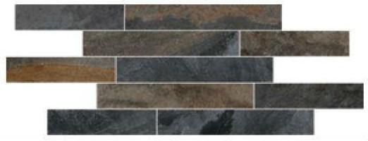 Мозаика K946658 Vulcano Базальт 28х78.5 Vitra