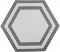 Декор ADPV9018 Pavimento Hexagono Deco Dark Gray 20x23 Adex
