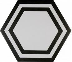 Декор ADPV9020 Pavimento Hexagono Deco Black 20x23 Adex