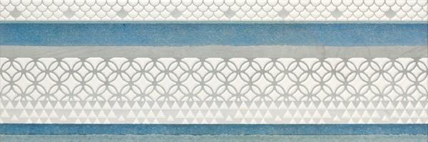 Декор Dec Lombardia Blue 32.77x100 Alcor Azulejos