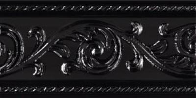 Бордюр Caprichosa Cenefa Yara Negro 7.5x15 Carmen