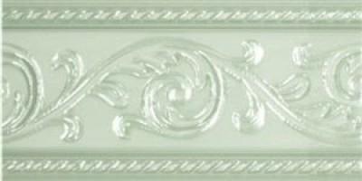 Бордюр Caprichosa Cenefa Yara Verde Pastel 7.5x15 Carmen