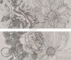 Панно Ape Ceramica Concorde Kiem Grafito Set (2 плитки) 40x50