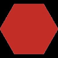 Керамогранит Codicer Basic Hex 25 Red 25x22