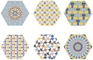 Керамогранит Codicer Kasbah Hexagon Mix Colors 25х22