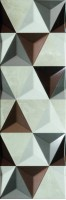 Настенная плитка 147-016-6 Valentina Brown Geometric 20x60 Gemma