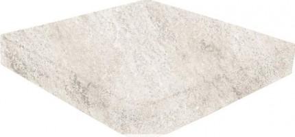 Ступень угловая Evolution Esquina Recto Evo White Stone 31.7x31.7 Gresmanc