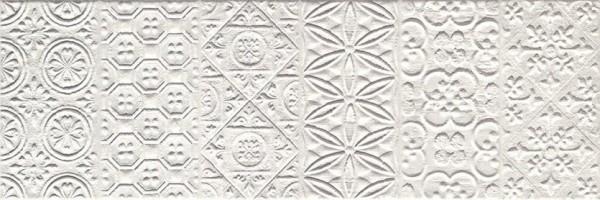 Плитка настенная SQ0175F Square Bianco Formelle 25x75 Impronta