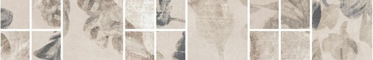 Бордюр Александрия SG186/001 светлый мозаичный 30x4.8 Kerama Marazzi