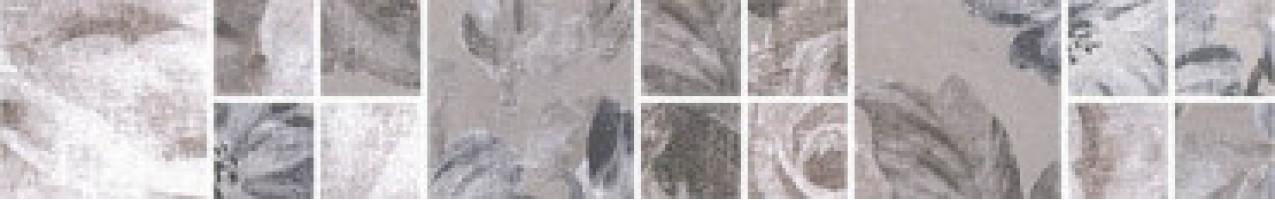 Бордюр Александрия SG186/002 серый мозаичный 30x4.8 Kerama Marazzi
