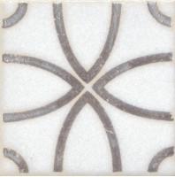 Напольная вставка STG/A405/1266 Амальфи орнамент коричневый 9.9x9.9 Kerama Marazzi