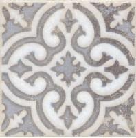 Напольная вставка STG/A408/1266 Амальфи орнамент коричневый 9.9x9.9 Kerama Marazzi