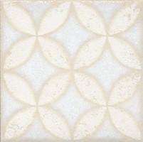 Напольная вставка STG/B401/1266 Амальфи орнамент белый 9.9x9.9 Kerama Marazzi