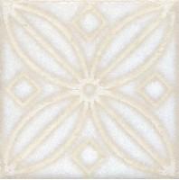 Напольная вставка STG/B402/1266 Амальфи орнамент белый 9.9x9.9 Kerama Marazzi