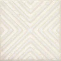 Напольная вставка STG/B403/1266 Амальфи орнамент белый 9.9x9.9 Kerama Marazzi