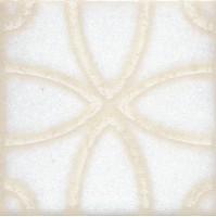 Напольная вставка STG/B405/1266 Амальфи орнамент белый 9.9x9.9 Kerama Marazzi
