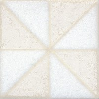 Напольная вставка STG/B407/1266 Амальфи орнамент белый 9.9x9.9 Kerama Marazzi