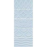 Настенная плитка 16015 Авеллино голубой структура 7.4x15 Kerama Marazzi