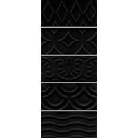Настенная плитка 16016 Авеллино чёрный структура 7.4x15 Kerama Marazzi