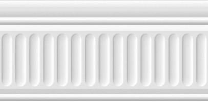 Бордюр Бланше 19048/3F белый структурированный 20x9.9 Kerama Marazzi