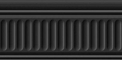 Бордюр Бланше 19049/3F черный структурированный 20x9.9 Kerama Marazzi