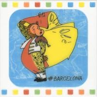Настенный декор NT/A264/5009 Большое путешествие Barcelona 20x20 Kerama Marazzi