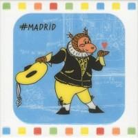 Настенный декор NT/A265/5009 Большое путешествие Madrid 20x20 Kerama Marazzi