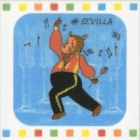 Настенный декор NT/A266/5009 Большое путешествие Seville 20x20 Kerama Marazzi