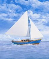 Настенное панно STG/A378/3x/7000 Читара Яхта 3 части 60x50 Kerama Marazzi