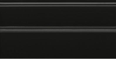 Плинтус FMA010R Даниэли чёрный обрезной 30х15 Kerama Marazzi