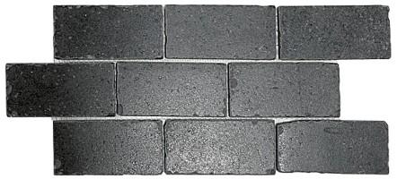Бордюр мозаичный BR008 Фьорд черный 34.5x14.7 Kerama Marazzi