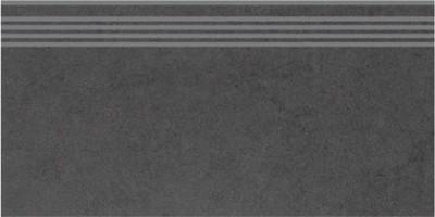 Ступень DP603400R/GR Фьорд черный обрезной 11мм 30x60 Kerama Marazzi