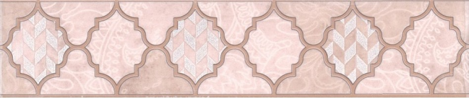 Бордюр ОР/В27/6334 Фоскари бордюр розовый 25х5,4 Kerama Marazzi