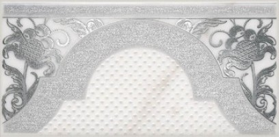 Декор Фрагонар HGD/A266/16071 белый 7.4x15 Kerama Marazzi