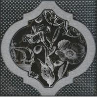 Декор Фрагонар HGD/B263/17052 чёрный 15x15 Kerama Marazzi