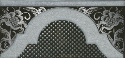 Декор Фрагонар HGD/B266/16072 чёрный 7.4x15 Kerama Marazzi