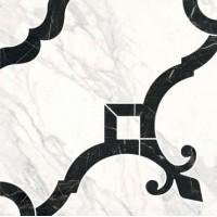 Декор Фрагонар ID88 наборный белый 1/4 розона 30x30 Kerama Marazzi