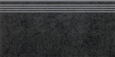 Ступень Kerama Marazzi Фудзи черный 30x60 SG602100R\GR
