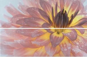 Настенное панно STG/A444/2x/12093R Искья Цветы обрезной (2 части) 50x75 Kerama Marazzi