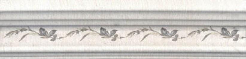 Бордюр Кантри Шик BLB028 Багет белый декорированный 20x5 Kerama Marazzi