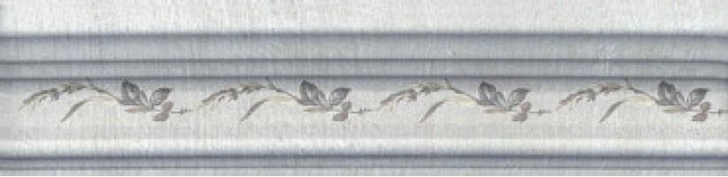 Бордюр Кантри Шик BLB029 Багет серый декорированный 20x5 Kerama Marazzi