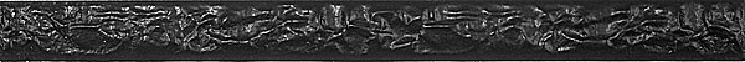 Бордюр 118 Крэш черный 2х25 Kerama Marazzi