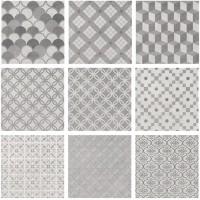 Керамогранит SG1576N Карнаби-стрит орнамент серый 20x20 Kerama Marazzi